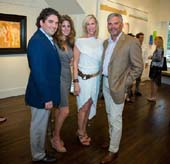 Gallery Valentine's Ryan Ross,  Art Southampton's Pamela Cohen ,Host Committee member Jeanine Edington and Art Southampton's Nick Korniloff at the kickoff reception at East Hampton's Gallery Valentine for the first Art Southampton presented by Art Miami.