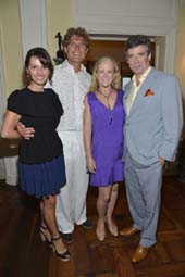Best Buddies International Founder and Chairman Anthony Kennedy Shriver and Alina Shriver pose with event