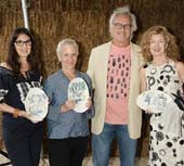 Susan Penzner, Amy Sullivan, Eric Fischl, April Gornik .  Photo by:  Rob Rich/SocietyAllure.com