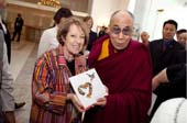 His Holiness the Dalai Lama with Tsipi Ben-Haim