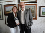 Margaret Ajemian Ahnert with Dr. Jose' Sarukhan in Mexico City January 29th, 2011 event at the Museo Memoria YTolerancia