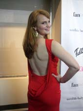 04-01-14 Kate Baldwin at the VIP reception for the launch of Stage 17 The Show Must Go On Online at the Walter Reade Theater. 165 West 65th St. Monday night. 03-31-14.  Photo by:  Aubrey Reuben