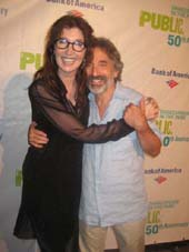 "08-10-12 Joanna Gleason and cast member Chip Zien at the opening night for ""Into the Woods"" at outside the Delacorte Theater. Central Park. Thursday night 08-09-12"