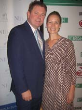 08-27-15 Artistic Director George C. Heslin and Deputy Consul General of Ireland Anna McGillicuddy at the launch party for Origin's 1st 2015 New York's Annual Festival of Irish Theater at Mutual of America. 320 Park Ave. Wednesday night. 08-26-15.  Photo by:  Aubrey Reuben