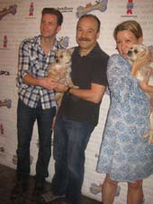 "07-13-14 (L-R) Bill Heck. Danny Burstein. Linda Edmond ""Cabaret"" at the 16th Annual Broadway Barks in Shubert Alley/Booth Theatre. 222 West 45th St. Saturday afternoon. 07-12-14.  Photo by:  Aubrey Reuben"