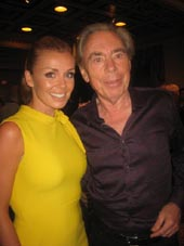 "08-06-16 Welsh opera singer Katherine Jenkins and Andrew Lloyd Webber at the opening night party for ""Cats"" at Gotham Hall. 1359 Broadway. Sunday night 07-31-16.  Photo by:  Aubrey Reuben"