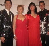 12-17-16 (L-R) Anthony Nunziata. Liz Callaway. Ann Hampton Callaway. Will Nunziata after they performed with The New York Pops at Carnegie Hall. .  Photo by:  Aubrey reuben