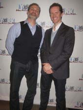 "12-20-12 Cast members (L-R) Marc Kudisch. Jeffry Denman at the opening night party for ""Happy Merry Hanu-Mas"" at the York Theatre at Saint Peter's Church at Citicorp on East 54th St. & Lexington Ave. Wednesday night 12-19-12"