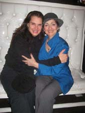 "12-21-11 Cast members Brooke Shields (L) and Robin Strasser at a party following a reading of ""A Tomato Can't Grow in the Bronx"" at the Inc Lounge in the Time Hotel. 224 West 49h St"