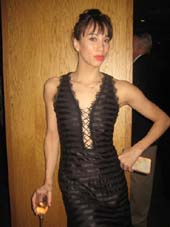 "2-26-15 Cast member Georgina Pazcoguin at the opening night party for ""American Dance Machine for the 21st Century"" at Dream Hotel. 355 West 16th St. Monday night. 12-21-15.  Photo by:  Aubrey Reuben"