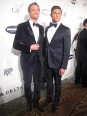 "02-04-14 Honoree Neil Patrick Harris (L) and David Burtka at the Drama League's 30th Annual ""Musical Celebration of Broadway"" at the Pierre Hotel. 2 East 61st St. Monday night 02-03-14.  photo by:   aubrey reuben"