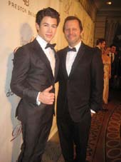 02-07-12 (L-R) Nick Jonas. Rob Ashford at the Drama League's 28th Annnual Benefit Gala at the Pierre Hotel