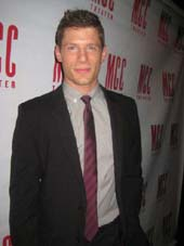 "02-18-13 Cast member Matt Lauria at the opening night party of ""Really Really"" at 49 Grove. 49 Grove St. Tuesday night 02-19-13"