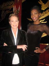 01-20-12 Julie Andrews (L) and Roshumba at a party at the Russian Tea Room for Lola Astanova following her performance at Carnegie Hall. 150 West 57th St. Thursday night 01-19-12
