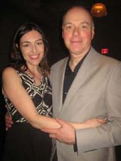 "01-21-13 (L-R) Playwright Laura Marks. cast member/husband Ken Marks at the opening night party for ""Bethany"" at the City Center Studio 5. 150 West 56th St. Sunday night 01-20-13"