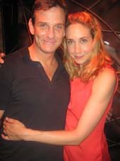 "07-09-13 Cast members Sean McDermott and Laura Jordan of ""Silence! The Musical"" at the closing night party at the Elektra Theatre. 669 Eighth Ave. Sunday night 07-08-13"