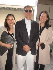 06-27-15 (L-R) Producer Jacqueline Liu. film director Ringo Lam. Dr. Xiuli Meng outside the Walter Reade Theater.