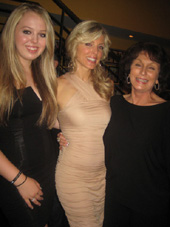 "07-08-11 (L-R) Daughter Tiffany Trump cast member Marla Maples mother Ann Maples at the new cast party for ""Love Loss and What I Wore"" at B. Smith's Restaurant"