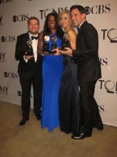 06-11-12 2012 Tony winners (L-R) James Corden