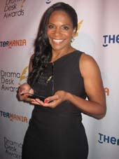 06-02-14 Winner Outstanding Actress in a Play Audra McDonald at the 59th Annual Drama Desk Awards at the Liberty Theatre. 234 West 42nd St. Sunday night 06-01-14.  Photo by:  Aubrey Reuben