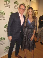 "06-10-16 Cast member Matthew Broderick and Sarah Jessica Parker at the opening night party for ""Shining City"" in the Gallery at the Irish Repertory Theatre. 132 West 22nd St. Thursday night. 06-09-16.  Photo by:  Aubrey Reuben"