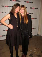 "03-11-14 Honoree playwright Beth Henley (L) and Holly Hunter at the New Group Annual Gala ""Bright Lights Off Broadway at Tribeca Rooftop. 2 Desbrosses St. Monday night. 03-10-14.  photo by:  aubrey reuben"