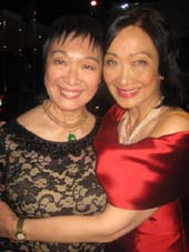 03-26-16 Artistic Director Tisa Chang (L) and honoree Tina Chen who received the Artist Legacy Award at the Pan Asian Repertory Theatre 39th Anniversay Gala Award Dinner at the Copacabana. 268 West 47th St. Monday night 03-21-16.  Photo by:  Aubrey Reuben