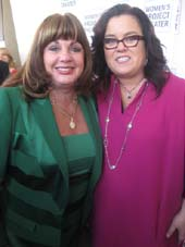 05-14-13 Charlotte St. Martin (L) who received an award at the Women's Project Theater's 2013 Women of Achievement Awards Gala and presenter Rosie O'Donnell at Three Sixty. 10 Debrosses St. Monday night. 05-13-13
