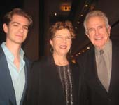 Warren Beatty, Andrew Garfield and Annette Benning.  Photo by:  Aubrey Reuben