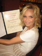 05-20-15 Kristin Chenoweth received the Outstanding Actress in a Musical Award at the Outer Critics Circle 65th Annual Awards Party at Sardi's. 234 West 44th St. Thursday afternoon. 05-21-15.  Photo by:  Aubrey Reuben