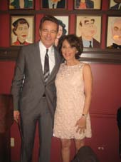 05-23-14 Winner Actor Bryan Cranston and winner/presenter Andrea Martin at the 64th Annual Outer Critics Circle Theatre Awards at Sardi's. 234 West 44th St. Thursday afternoon. .  Photo by:  Aubrey Reuben