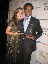 "05-20-13 Outstanding Actress and Actor in a Musical Laura Osnes ""Cinderella"" and Billy Porter ""Kinky Boots"" at the 58th Annual 2013 Drama Desk Awards at The Liberty Theatre. 234 West 42nd St. Sunday night. 05-19-13"