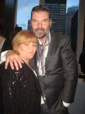 "05-28-16 Honoree Lesley Nicol and Brendan Coyle (both from ""Downton Abbey"") at the Origin Theatre Annual Gala at Mutual of America. 320 Park Avenue. .  Photo by:  Aubrey Reuben"