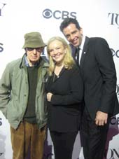 05-01-14 Tony Nominees (L-R) Woody Allen. Susan Stroman. Nick Cordero at the 2014 Tony Awards Meet The Nominees Junket at the Paramount Hotel. 235 West 46th St. Wednesday morning. 04-30-14.  Photo by:  Aubrey Reuben
