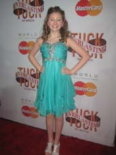 "05-07-16 Cast member 11-year old Sarah Charles Lewis at the opening night party for ""Tuck Everlasting"" at Tavern on the Green. Central Park & 61st St. Tuesday night. 04-25-16. Photo by:  Aubrey Reuben"