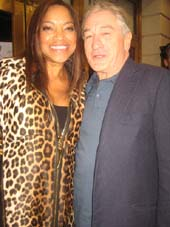 "10-27-14 Grace Hightower and husband Robert De Niro at the opening night of ""The Last Ship"" at the Neil Simon Theatre. 250 West 52nd St. Sunday night 10-26-14.  Photo by:  Aubrey Reuben"