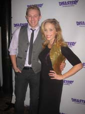 "11-05-13 Cast members Matt Farcher and Haven Burton at the opening night party for ""Disaster!"" .  photo by:  aubrey reuben"