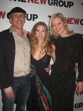 "11-16-12 Cast member (L-R) Director Scott Elliott. playwright Francine Volpe. Gretchen Mol at the opening night party for ""The Good Mother"" at Qi Bangkok Eatery. 675 Eighth Ave. Thursday night 11-15-12"