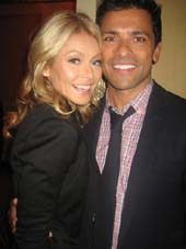 "11-14-11 Kelly Ripa and husband cast member Mark Consuelos at the opening night party for ""Standing on ceremony: The Gay Marriage Plays"" at 24 Fifth Avenue. Sunday night 11-13-11"