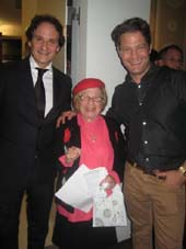11-17-11 (L-R) David Hryck. Dr. Ruth Westheimer. Nate Berkus at the launch of Dr. Ruth YouTube.com. channel at The Core Club. 66 East 55th St. Wednesday night 11-16-11