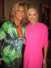 "10-12-12 Denise Rich (L) and honoree Michele Herbert at the Pre-gala cocktail reception for the Career Transition For Dancers 27th Anniversary Jubilee ""Jump for Joy!"" to take place on November 5 at Michele and Lawrence Herbert's Park Avenue Home. Thursday night 10-11-12"