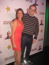 "10-14-16 Director Kimberly Senior and cast member Chris Gethard at the opening night party for ""Chis Gethard: Career Suicide"" at the Lynn Redgrave Theater.45 Bleecker St. Thursday night. 10-13-16"