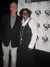 09-27-11 Mike Nichols presented Whoopi Goldberg with The New York Apple Award at the 27th Annual Artios Awards of the Casting Society of America at District 36.
