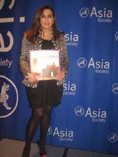 "10-19-12 Meera Gandhi at the launch of her book party ""Giving Back"" at the Asia Society and Museum"