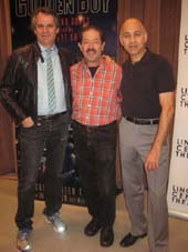 10-26-12 Cast members (L-R) Director Bartlett Sher. Jonathan Hadary. Ned Eisenberg at a photo op for