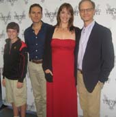 "09-05-13 (L-R) Cast members Paul Anthony Stewart, Frankie Seratch. Julia Murney. David Hyde Pierce at a Meet & Greet for the musical ""The Landing"" at Roundabout Rehearsal Studios. 115 West 45th St. 09-04-13.  photo by:  aubrey reuben"