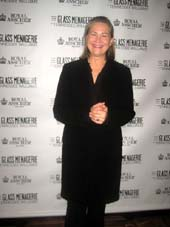 "Cast member Cherry Jones at the opening night party for ""The Glass Menagerie"" at the Redeye Grill. 890 Seventh Ave. Thursday night 09-26-13.  photo by:  aubrey reuben"