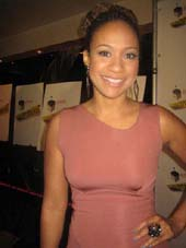 "12-09-11 Cast member Tracie Thoms at the opening night party for ""Stick Fly"" at Copacabana. 268 West 47th St. Thursday night 12-08-11"