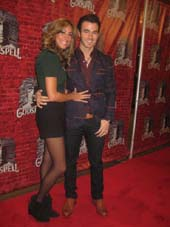 "11-08-11 Wife Danielle Deleasa and Kevin Jonas at the opening night for ""Godspell"" at the Circle in the Square Theatre. 1633 Broadway. Monday night 11-07-11"
