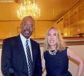 Dr. Benjamin Carson and Lauren Lawrence.  Photo by:  Vincent Menza